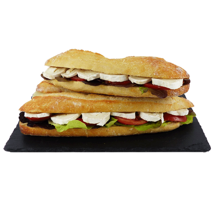 Sandwich crudités fromage