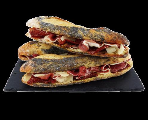 Sandwich jambon cru parmesan